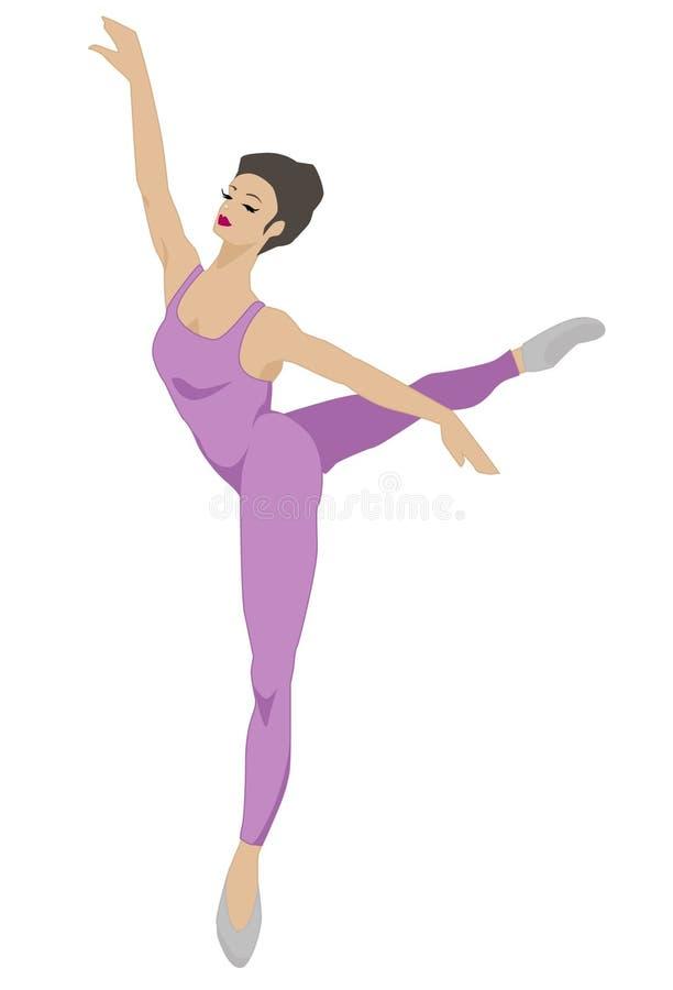 Serie de la danza - actitud 1 (púrpura) ilustración del vector