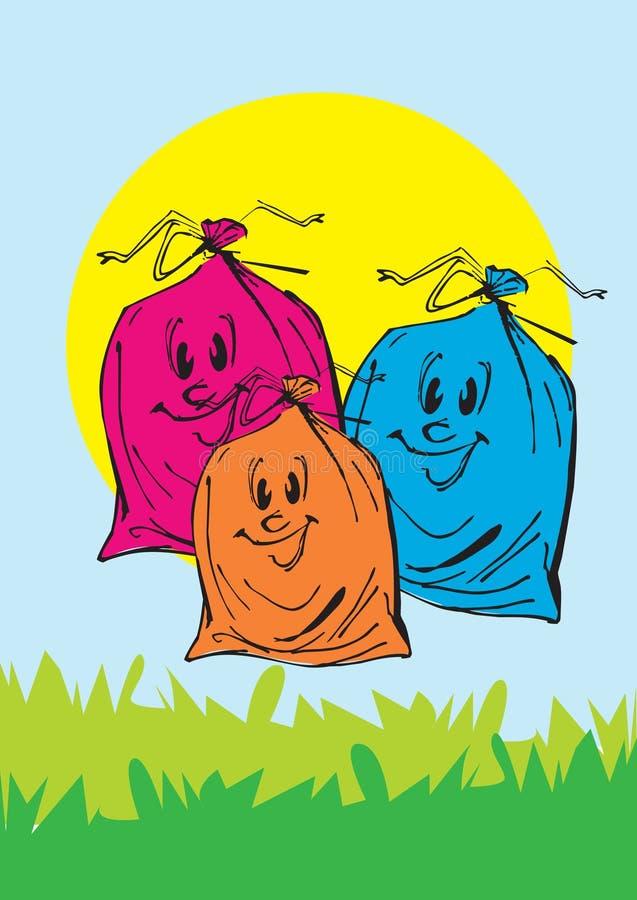 Serie de la ecología - basura libre illustration