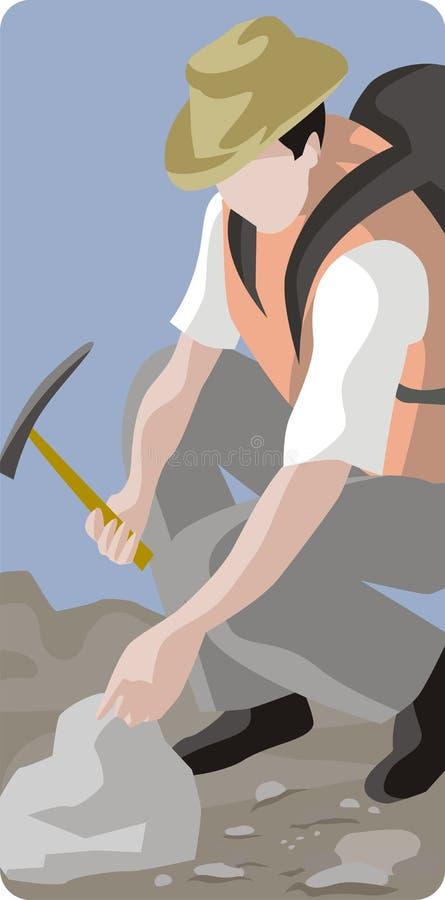 Serie de la ilustración de la arqueología ilustración del vector
