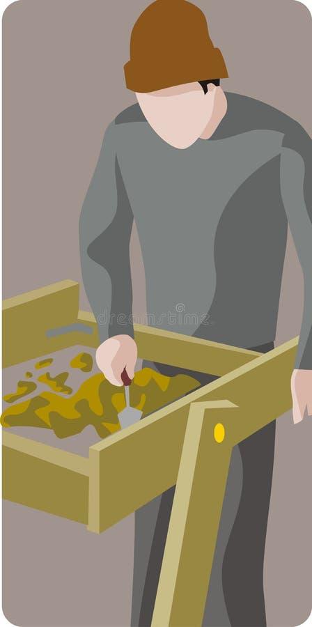 Serie de la ilustración de la arqueología stock de ilustración