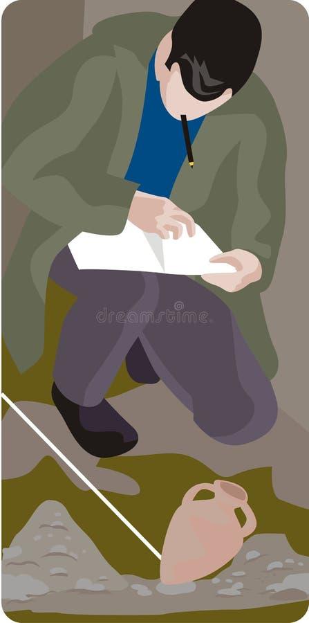 Serie de la ilustración de la arqueología libre illustration