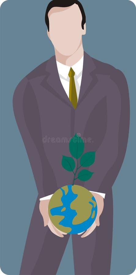 Serie de la ilustración de la ecología stock de ilustración