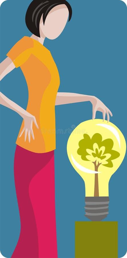 Serie de la ilustración de la ecología ilustración del vector