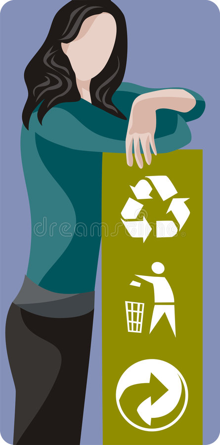Serie de la ilustración de la ecología libre illustration