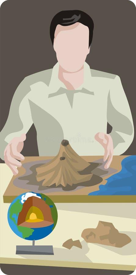 Serie de la ilustración de la geología stock de ilustración