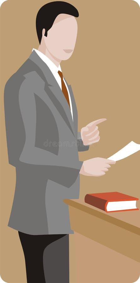 Serie de la ilustración de la profesión ilustración del vector