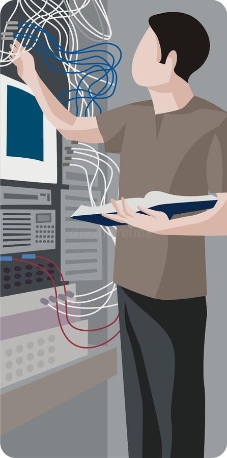Serie de la ilustración de la profesión stock de ilustración