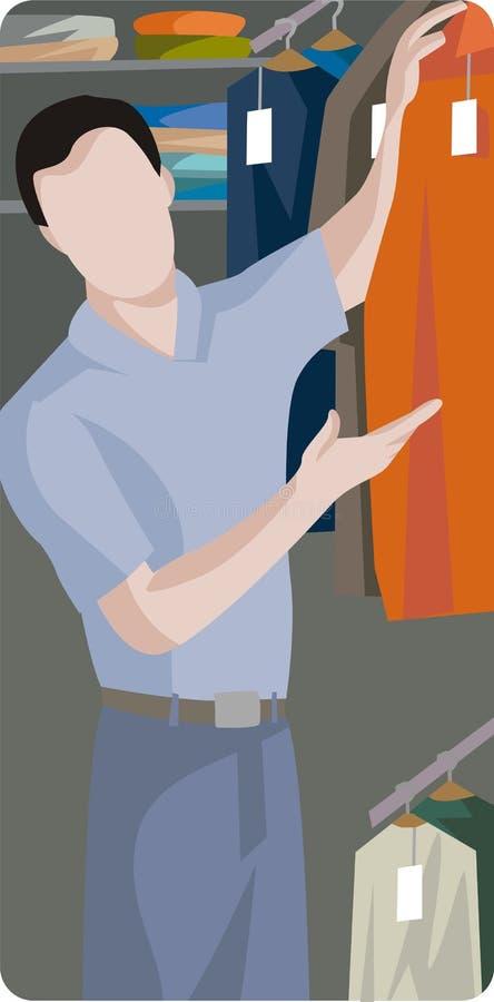 Serie de la ilustración de las compras stock de ilustración
