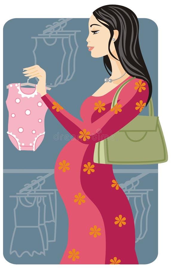 Serie de la ilustración de las compras ilustración del vector