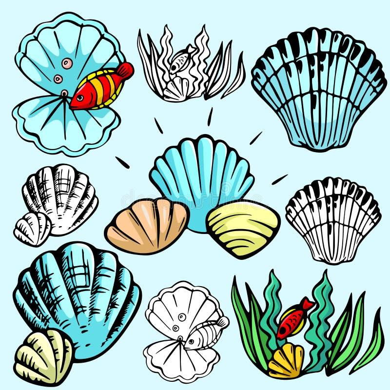 Serie de la ilustración de Seaworld libre illustration