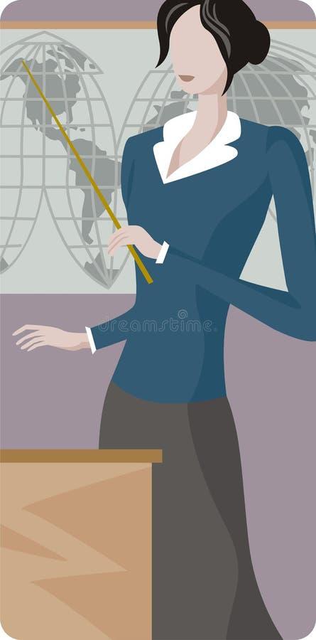 Serie de la ilustración del profesor ilustración del vector