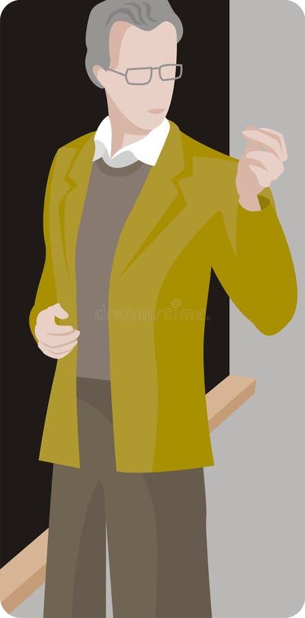 Serie de la ilustración del profesor stock de ilustración