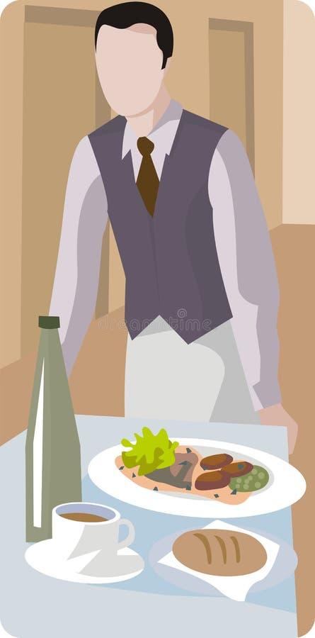 Serie de la ilustración del restaurante stock de ilustración