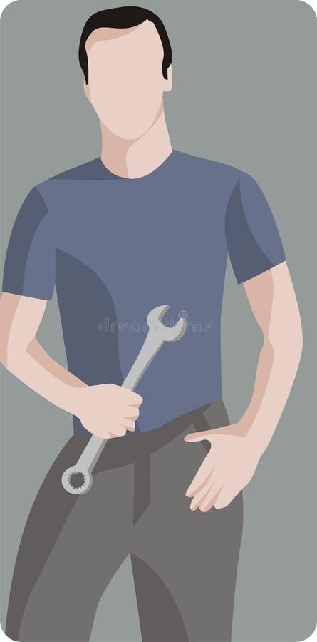 Serie de la ilustración del trabajador libre illustration