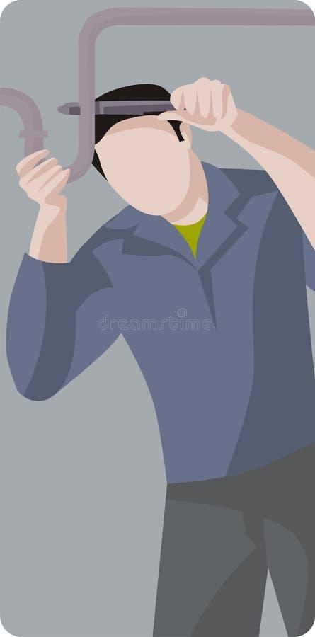 Serie de la ilustración del trabajador stock de ilustración