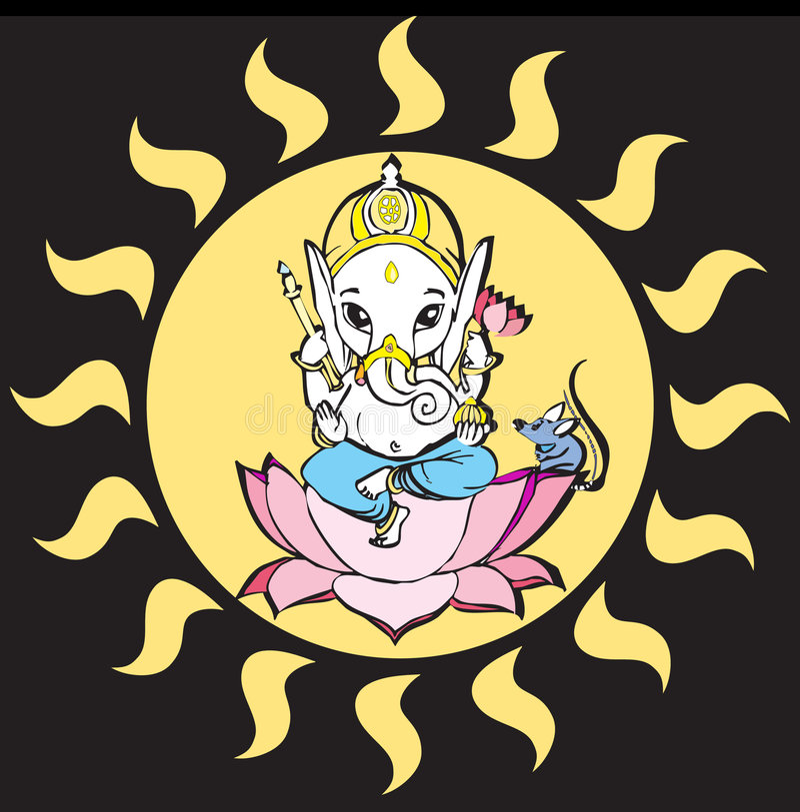 Serie de la India - Ganesh libre illustration