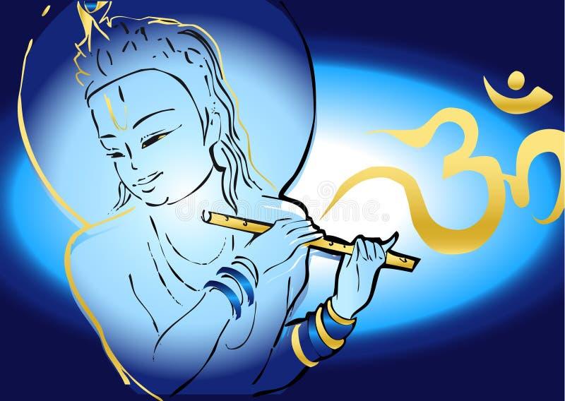 Serie de la India - Krishna ilustración del vector