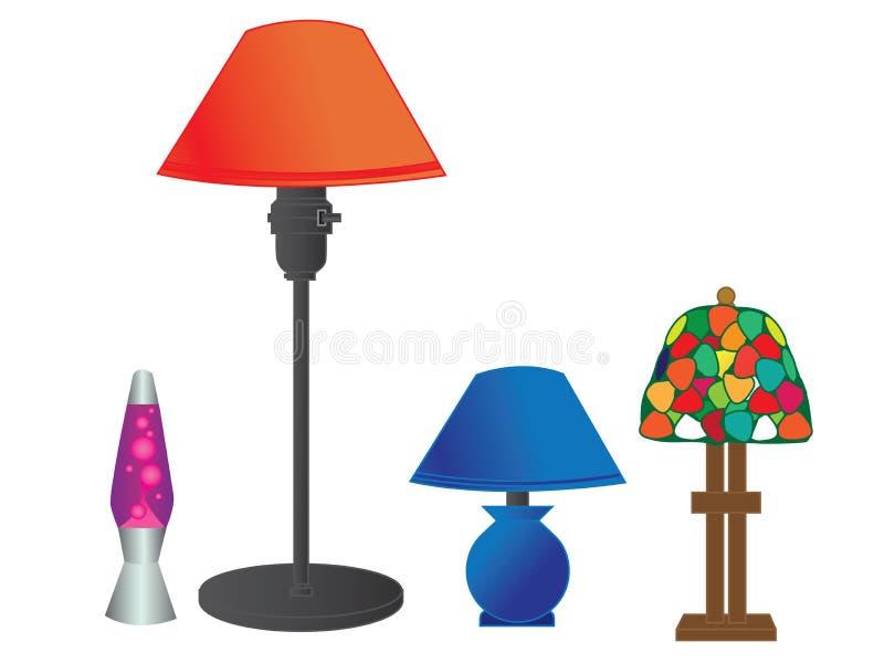 Serie de la lámpara del vector imagen de archivo libre de regalías