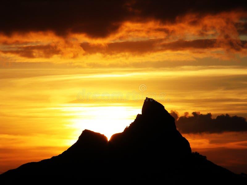 Serie de la montaña imagenes de archivo