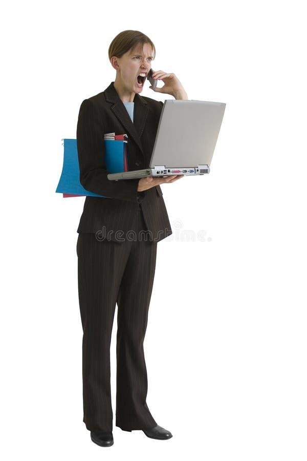 Serie de la mujer de negocios - tensión foto de archivo