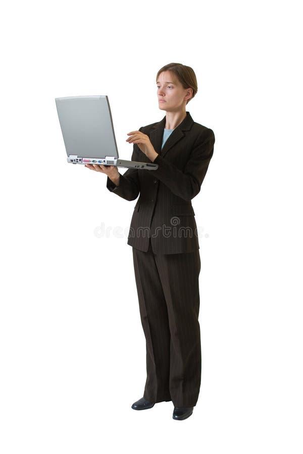 Serie de la mujer de negocios - trabajo foto de archivo