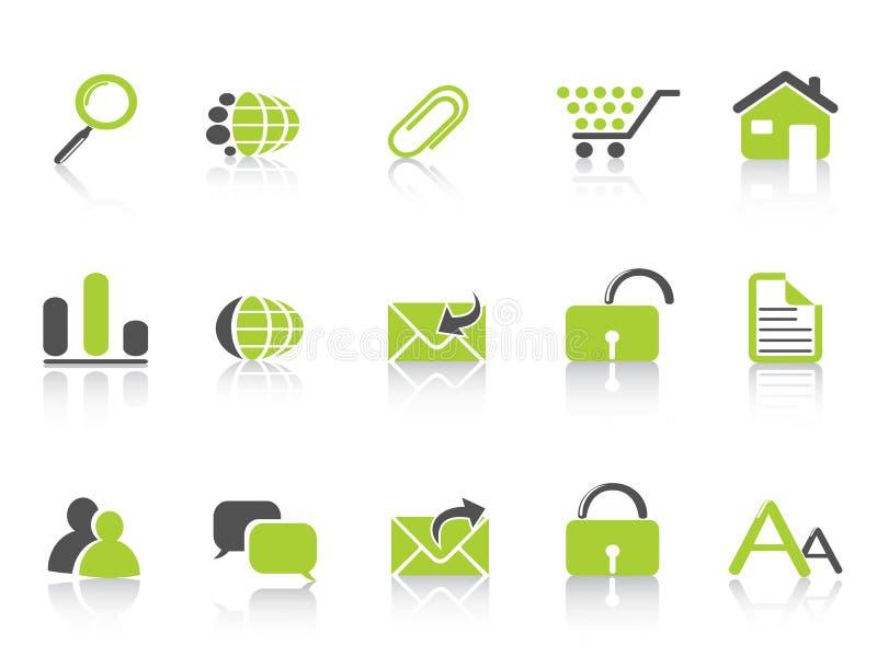 Serie de la naturaleza del verde del icono del Web ilustración del vector