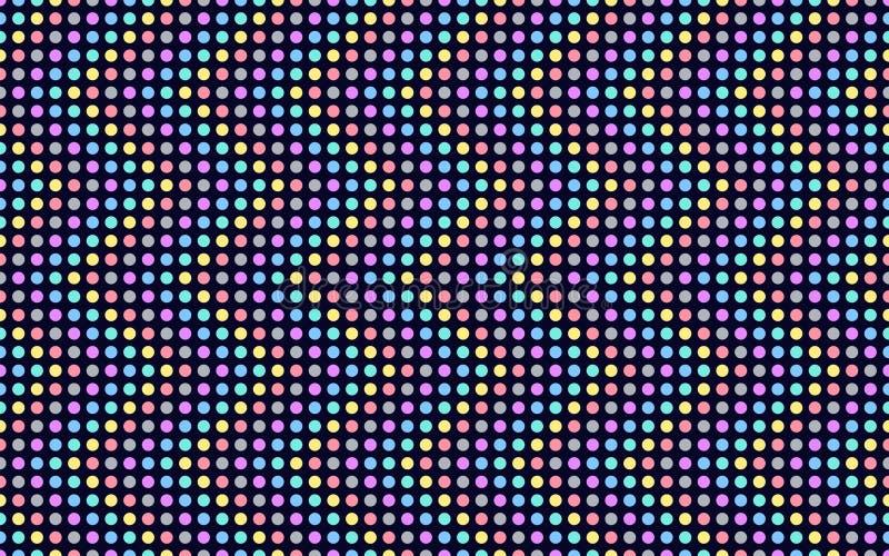 Serie de la onda de puntos coloreados libre illustration
