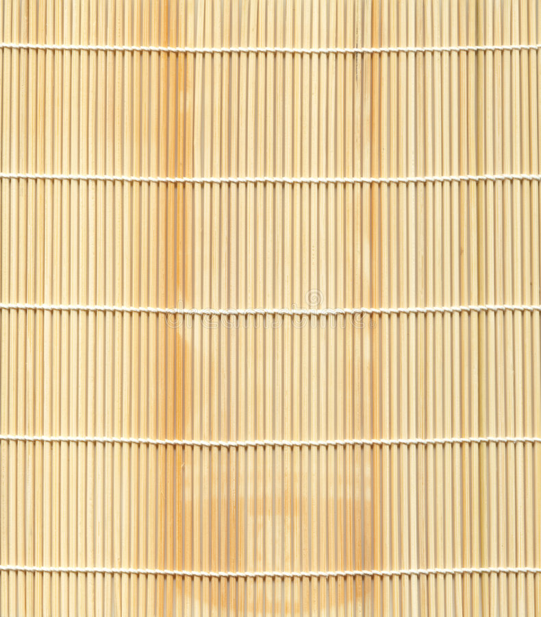 Serie de la textura: Estera de bambú imagen de archivo libre de regalías