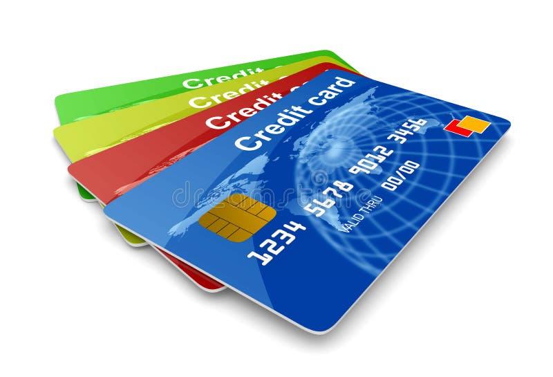 Serie de las tarjetas de crédito libre illustration