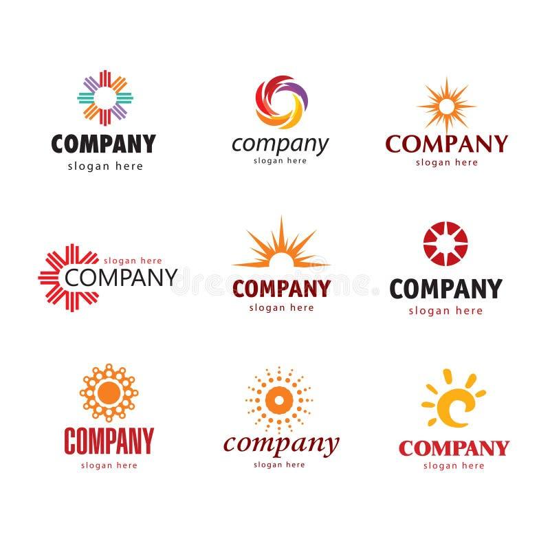 Logotipo solar stock de ilustración