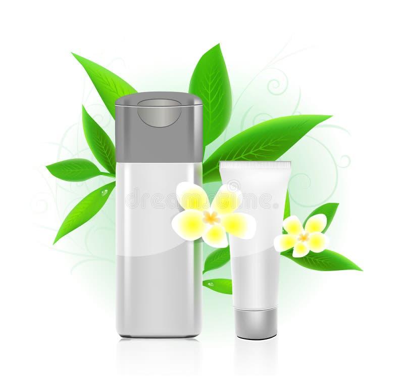Serie de los cosméticos del BALNEARIO. botellas de los cosméticos libre illustration