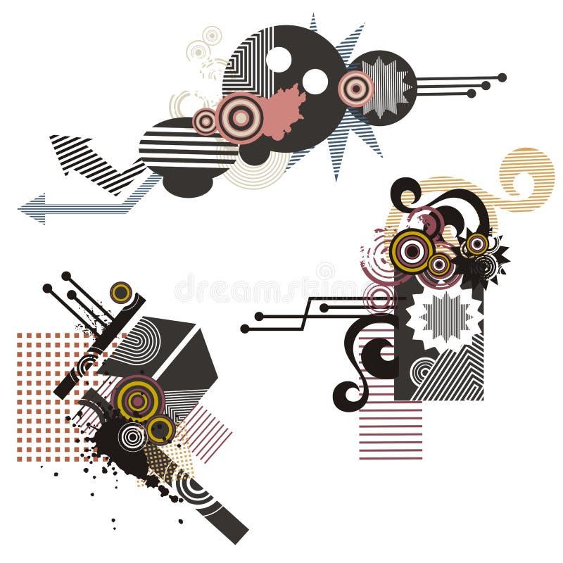 Serie de los elementos del diseño de la tecnología libre illustration