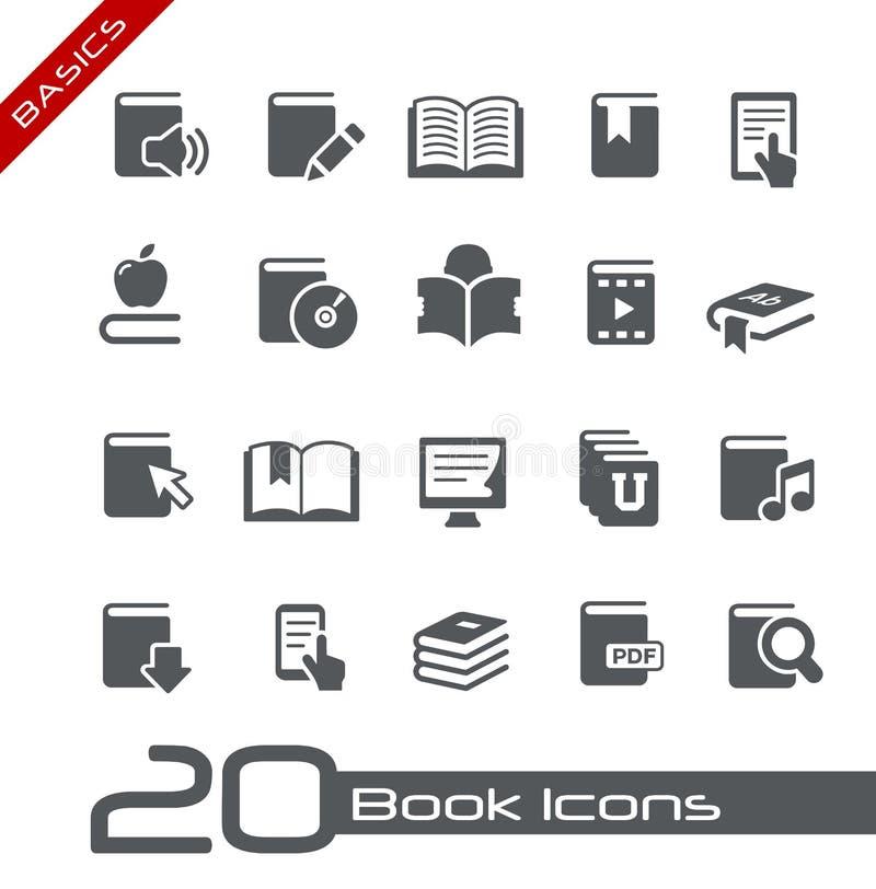 Serie de los fundamentos de // de los iconos del libro ilustración del vector