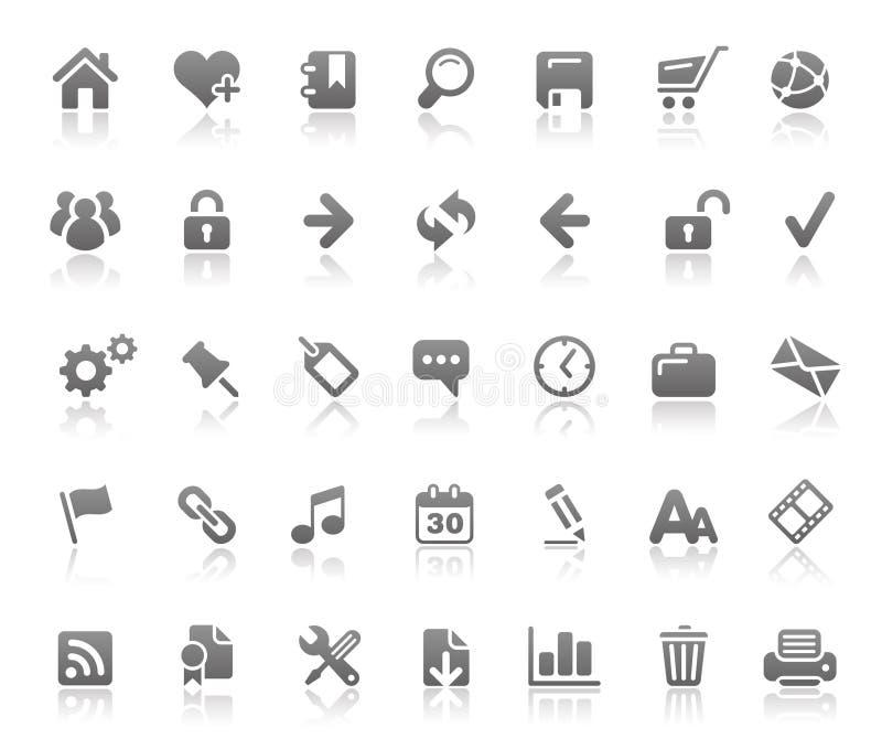 Serie de los fundamentos de // de los iconos del Web site y del Internet ilustración del vector