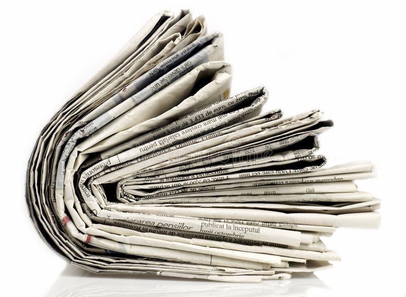 Serie de los periódicos foto de archivo