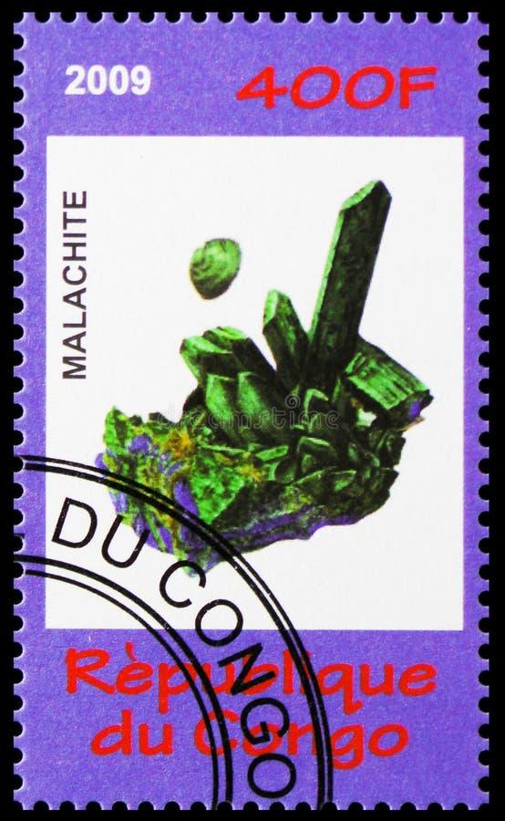Serie de malachite, de minerais et de champignons, vers 2009 image stock