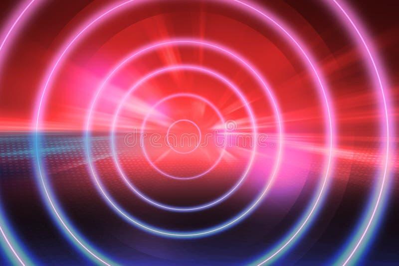Serie de neón virtual del concepto del fondo de la tecnología del extracto del tema del túnel imágenes de archivo libres de regalías