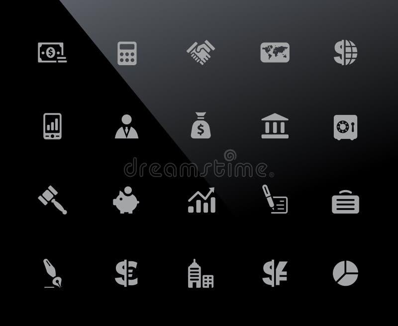 Serie de //32px de los iconos del negocio y de las finanzas libre illustration