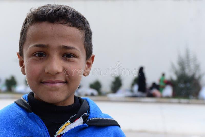 Serie de retratos de los refugiados del sirio de los niños fotos de archivo
