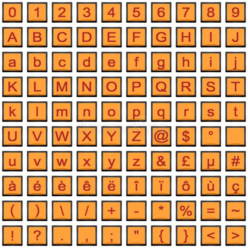 Serie de rojo iconos anaranjados ilustración del vector