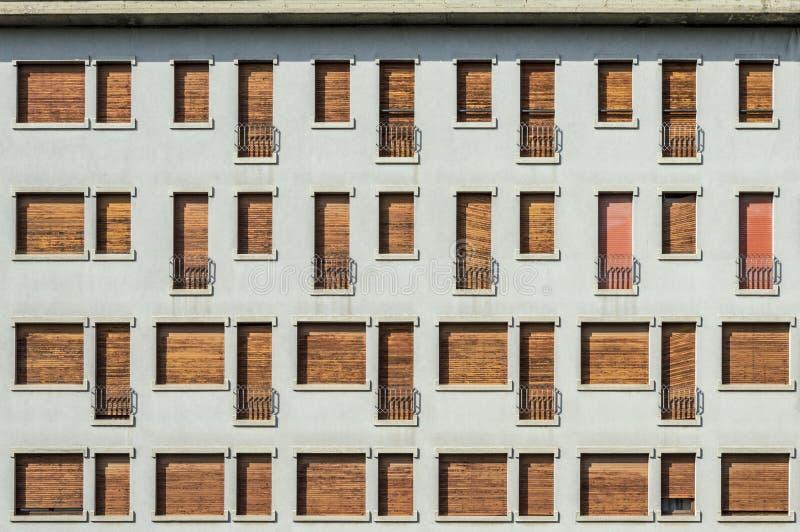 Serie de ventanas imagen de archivo