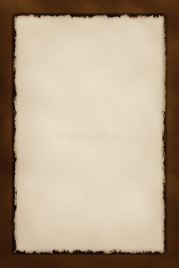 Serie decorativa de la frontera de Grunge - chocolate imagen de archivo