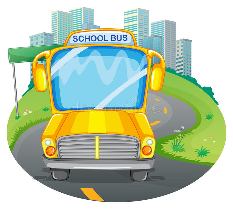 Serie del autobús escolar - 1 libre illustration