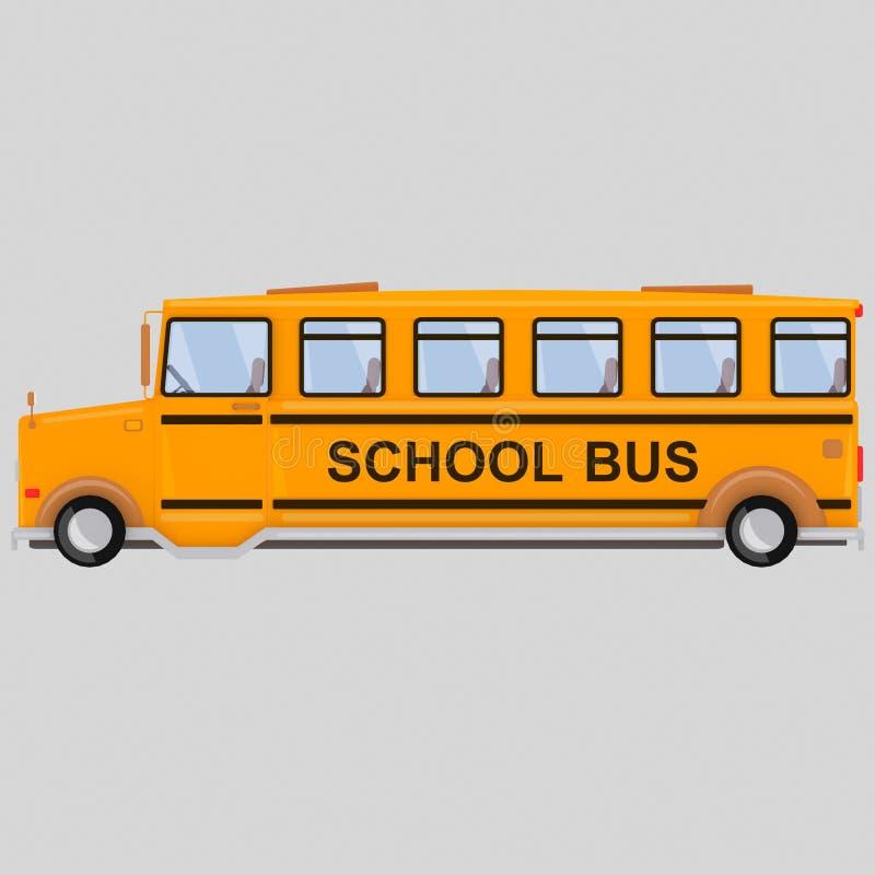 Serie del autobús escolar - 1 3d ilustración del vector