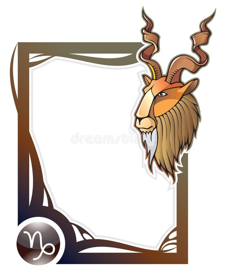 Serie del blocco per grafici dello zodiaco: Capricorn illustrazione di stock