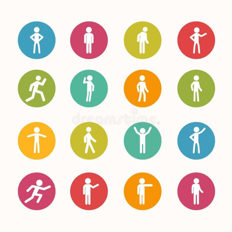 Serie del círculo del icono de la gente libre illustration