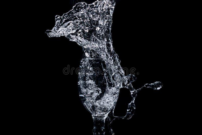 Serie del chapoteo del agua - Mini Wine Glass Eruption fotografía de archivo