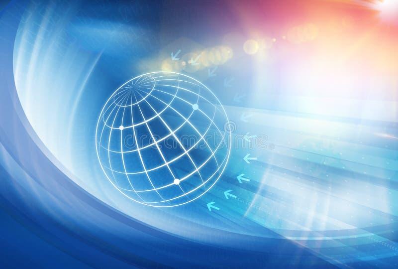 Serie 27 del concepto del fondo del negocio global stock de ilustración
