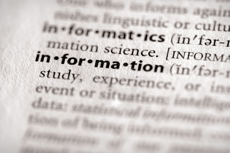 Serie del diccionario - Info: información imagen de archivo