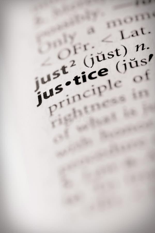 Serie del diccionario - ley: justicia fotos de archivo libres de regalías